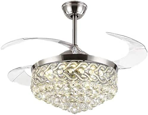 """Angry 42""""Crystal LED Invisible Ceiling Fan Light"""