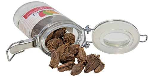 Black Cardamom Pods in Glass Spice Preserve Bottle, 1.1 oz ...