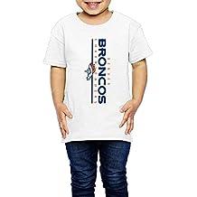 AK79 Kids 2-6 Years Old Boys And Girls T-shirt Denver Logo Broncos White