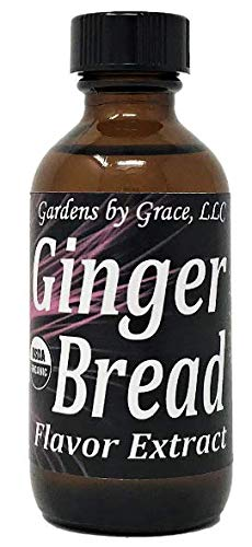 Organic Flavor Extract Gingerbread | Use in Gourmet Snacks, Candy, Beverages, Baking, Ice Cream, Frosting, Syrup and More | GMO-Free, Vegan, Gluten-Free, 2 oz