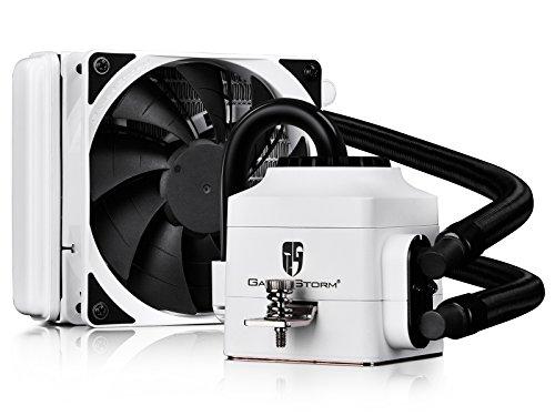 White Cpu - DEEPCOOL CAPTAIN 120EX WHITE AIO Liquid CPU Cooler, 120mm Radiator, 120mm PWM Fan, White, AM4 Compatible, 3-year warranty