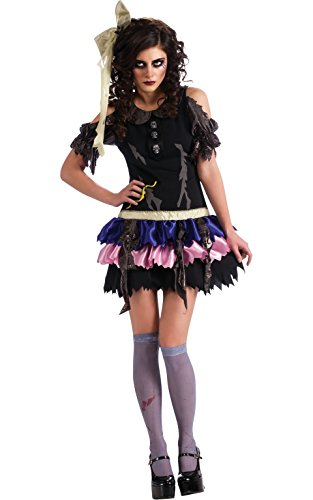 Zombie Doll Adult Costumes (Rubie's Costume Zombie Doll Dress Headpiece and Thigh-Highs, Multicolor, Standard)
