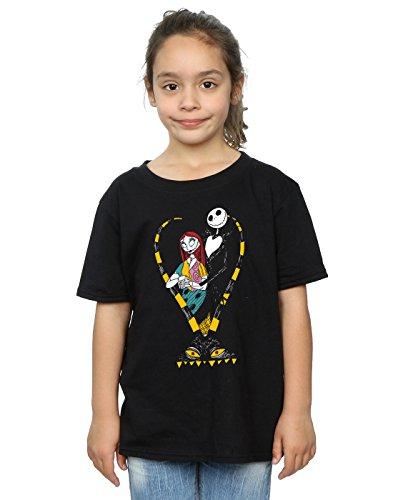 (Disney Girls Nightmare Before Christmas Jack and Sally Love T-Shirt 5-6 Years)