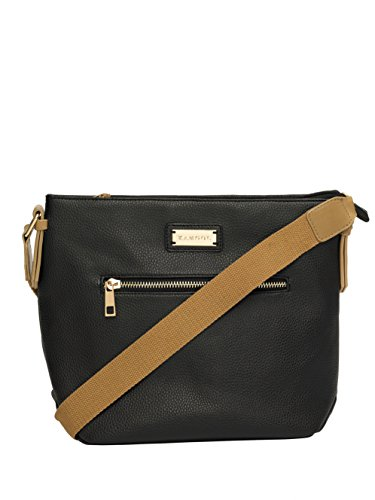 Crossbody Webbing Contrast Womens Black Kangol Handbag tEa8p