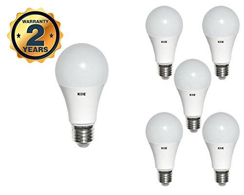 KDE - Bombilla LED Estándar 15W - Casquillo E27 - Luz cálida - 3000K - 640 lúmenes - 6UD - Eficiencia energética A+: Amazon.es: Iluminación