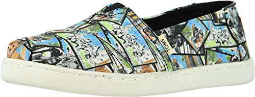 Toms Youth Size (TOMS Star Wars Ewok Print Youth Canvas Slip-on Multi-Color 10014513)