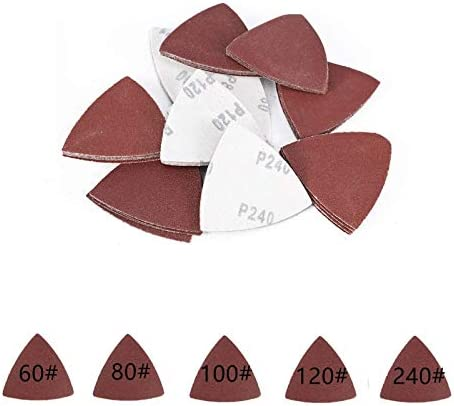 Papier Abrasif Disques Delta Triangle 80 mm pour maître Multitool