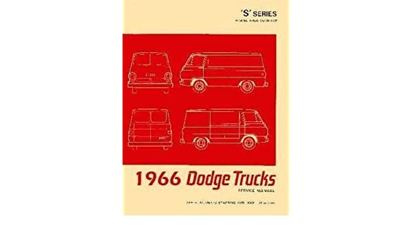 Amazon.com: Factory Shop - Service Manual for 1966 Dodge ... on