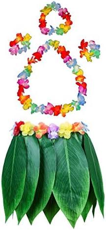 Good Night 5pcs Hawaianas Hojas Verdes Faldas de la Hierba Verde ...