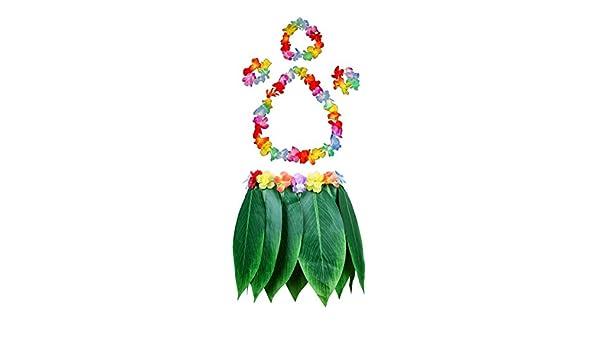 Fortunings JDS Hawaiano Flores Hoja Falda de Hierba Guirnalda ...