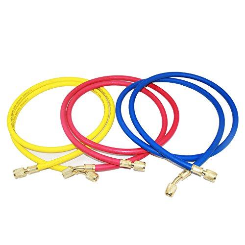 Joyway 3 color 1/4'' SAE Thread x 72'' HVAC AC Car Air Conditioning Refrigeration Charging hose Tube R12 R22 R502