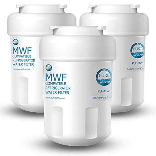 Pure Life Filter PLF-MWF Replacement For GE MWF, MWFP, MWFA, GWF, GWFA, SmartWater, Kenmore 9991, 46-9991, 469991 - 3 Pack
