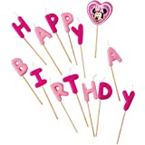 """Disney Minnie Maus Kerzen """"Happy Birthday"""" von 14Stück"""