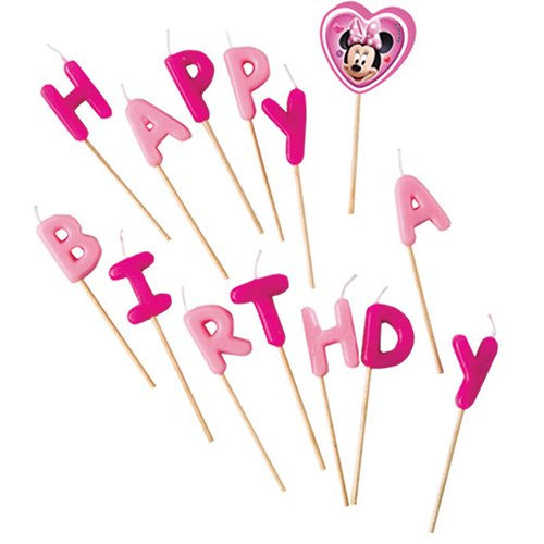 Minnie Mouse Happy Helpers Happy Birthday Toothpick Candles
