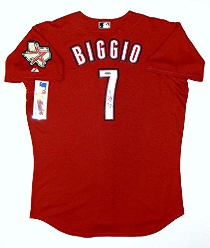 sports shoes b775c 157cc Craig Biggio Signed Houston Astros Red Authentic Majestic ...