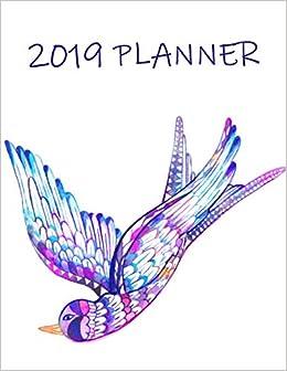 2019 Planner: Monthly Schedule Organizer - Agenda Planner ...