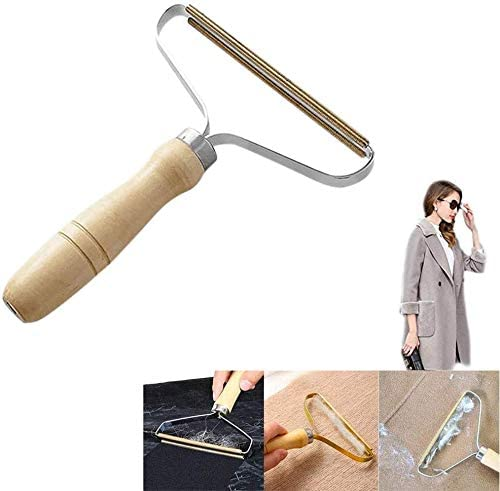 Manual Cleaning Tool Clothes Lint Trimmer Wooden Comb Shaver Wood Epilator