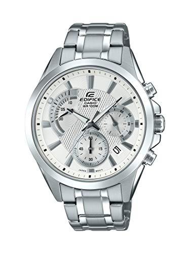 Casio Men's Edifice Silver Quartz Watch with Stainless-Steel Strap, 21.6 (Model: EFV-580D-7AVUDF) (Casio Edifices)