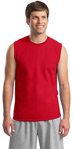 Gildan Mens 6.1 oz. Ultra Cotton Sleeveless T-Shirt G270 -RED 2XL