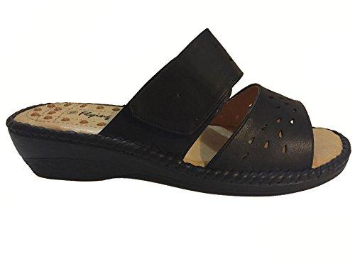 Black Flying Open Back Women's Acupressure Deer Sandals Dress qqAa1H0x