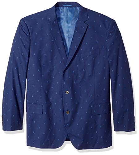 - U.S. Polo Assn. Men's Big and Tall Fancy Cotton Sport Coat, Anchor Print Navy, 52 Long