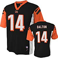 NFL Cincinnati Bengals Boys Player Fashion Jersey, Medium (5-6), Black