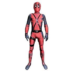 - 41f 2B3DFLADL - JerriyCostumes Zentai Halloween Unisex Lycra Spandex Cosplay Costumes Kids 3D Style