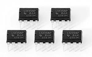 Juego de 5 amplificadores duales operacionales IC PDIP, LM358 Lm358p, 8 para Arduino Raspberry Pi