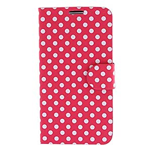 ZCL Stylish Dots Pattern PU Leather Full Body Case for Samsung Galaxy S4 Active I9295 (Assorted Colors) , Light Blue