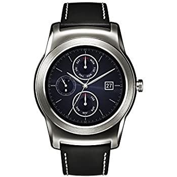 LG W150 Urbane Watch for Android Smartphones w/ Leather Band Silver Black - Pre-Owned