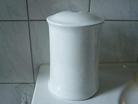 Toilettenbürstengarnitur Aus Keramik Dekor Weiß Hergestellt In