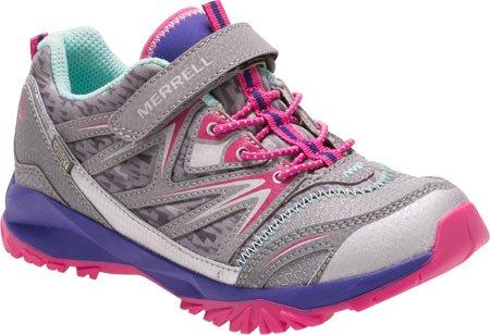 Merrell Mi Capra Bolt a/C Waterproof, Zapatos de Low Rise Senderismo para Niñas Grey