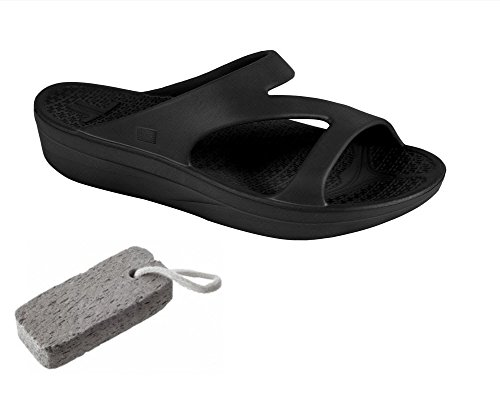One Strap Sandal (Telic VOTED BEST COMFORT SHOE Arch Support Recovery Z-Strap Sandal +BONUS Pumice $49 Value)