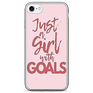iPhone 8 Transparent Edge Phone case Girl Goals Phone Case Slay Girl iPhone 8 Cover with Transparent Bumper