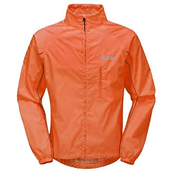 FDX Mens Waterproof Cycling Jacket Breathable Lightweight High Visibility  Jacket (Orange 665790638
