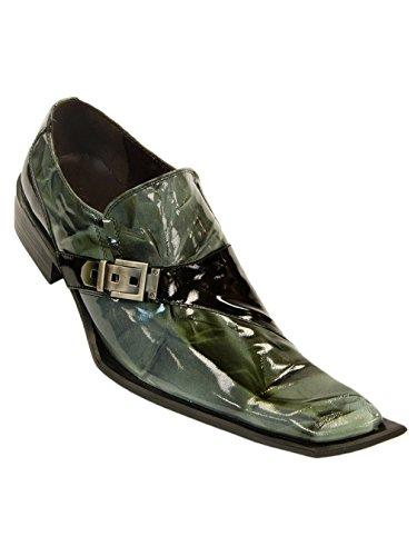 Zota Mens Leather Italian Luxurious Slip-On, Green