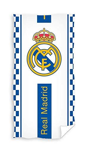 TEXTIL TARRAGO Toalla de Playa Real Madrid 70x140 cm 100% algodón Licencia oficia