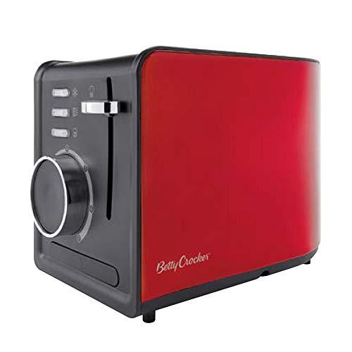 Betty Crocker BR-603 2-Slice Multifunctional Toaster, Red