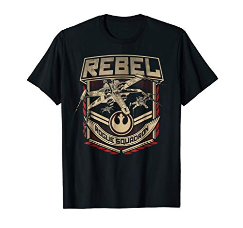 Star Wars X-Wing Rebels Rogue Squadron Badge Graphic T-Shirt (Star Wars Rogue Squadron Ii Rogue Leader Gamecube)