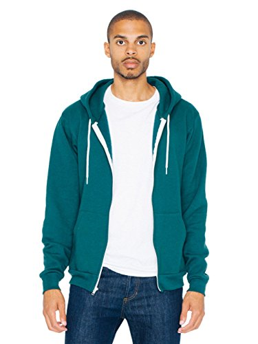 American Apparel Men Flex Fleece Zip Hoodie Size 2XL Forest