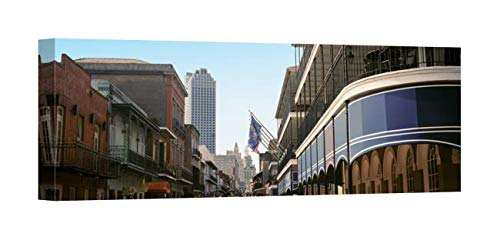 (Easy Art Prints Panoramic Images's 'Four Points, Bourbon Street, French Quarter, New Orleans, Louisiana' Premium Canvas Art 36 x 12)