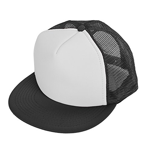 Flat Billed Trucker Cap With Mesh Back in - Baseball Cap Foam