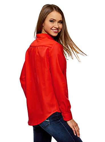 Chemise Femme Ultra 4500n Ample oodji Coton Rouge en xfSqRqwEgA