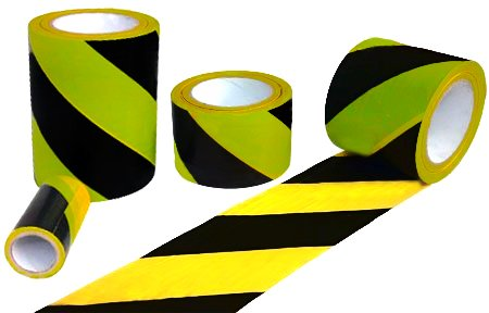 "3"" Hazard Safety Tape with Adhesive Backing - Length: 40 Yards/120FT Roll - Color Yellow/Black"