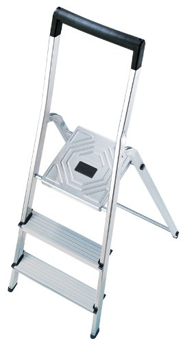 Hailo 8140-807 L40 safety ladder, 8 steps, with bucket hook for enhanced safety, made in Germany 8140807
