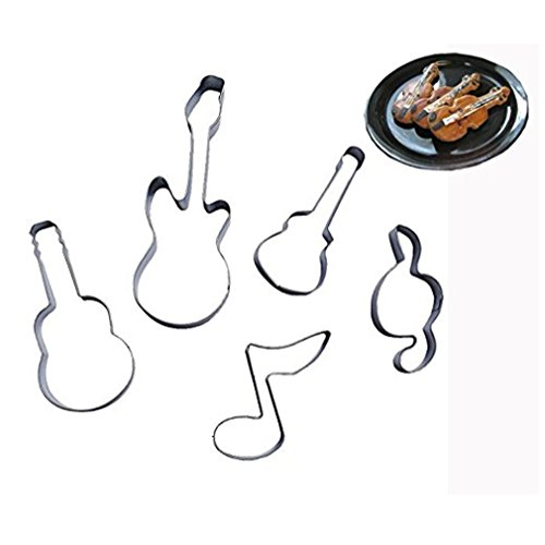 Efivs Arts Bass Guitar Music Notes Qute Stainless Steel Cook