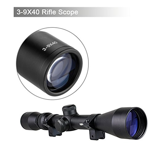 Excelvan 3-9x40 Rifle Scope Hunting Scope Mount Gun Scope for Sports Performing Hiking Hunting