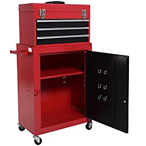 Amazon.com: 2PC Mini Tool Chest And Storage Cabinet Roller Tool ...
