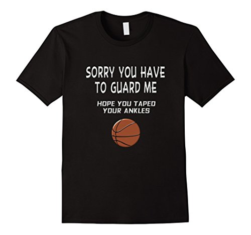 Mens You Can't Guard Me Funny Basketball Saying Shirt Small Black