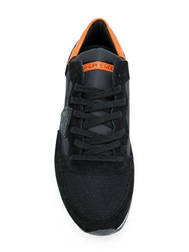 Philippe Model Mannen Trluwx69 Zwarte Suède Sneakers